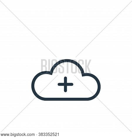 cloud icon isolated on white background from ui collection. cloud icon trendy and modern cloud symbo