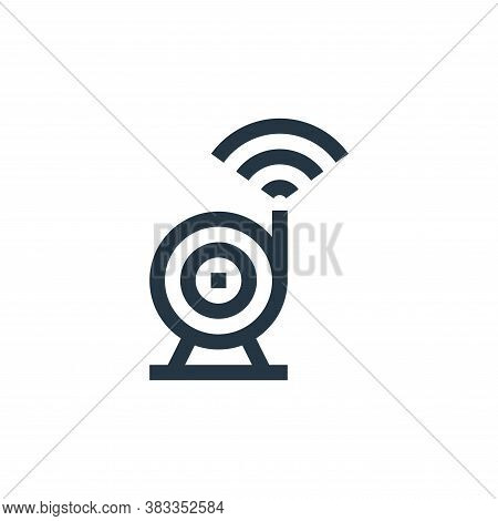webcam icon isolated on white background from wireless technology collection. webcam icon trendy and