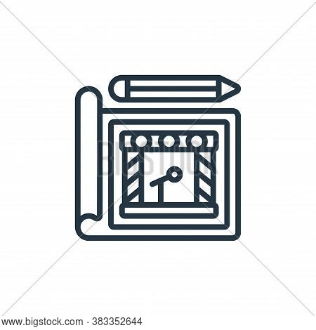 blueprint icon isolated on white background from event management collection. blueprint icon trendy