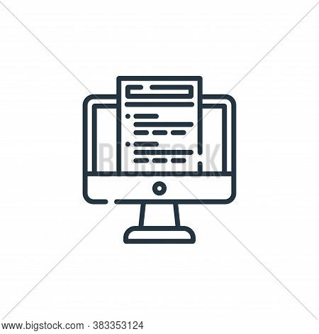 online test icon isolated on white background from education collection. online test icon trendy and