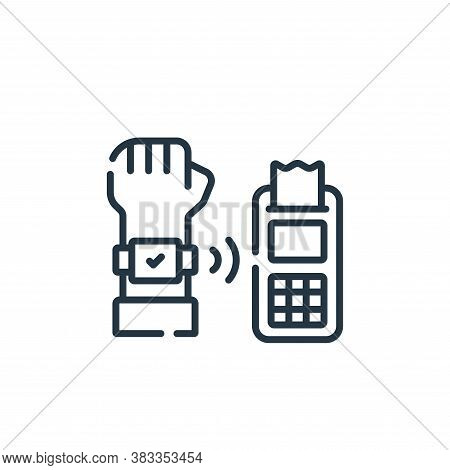 cashless payment icon isolated on white background from supermarket collection. cashless payment ico