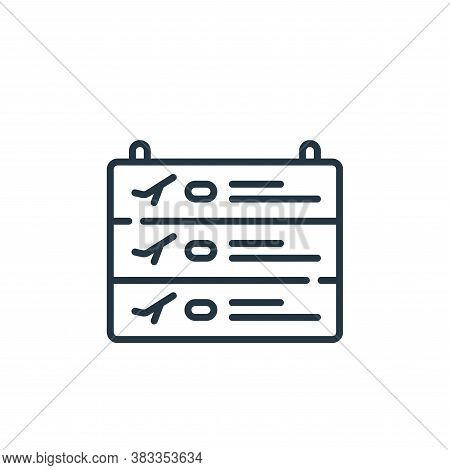 departure icon isolated on white background from aviation collection. departure icon trendy and mode