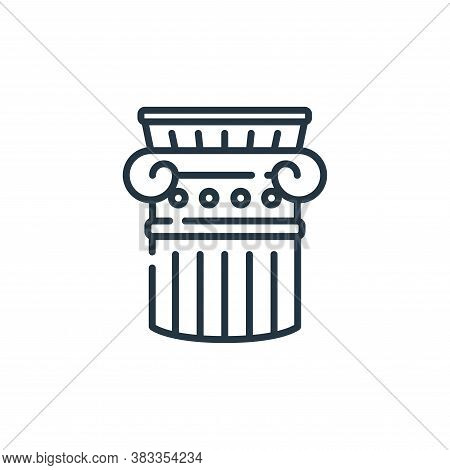 column icon isolated on white background from education collection. column icon trendy and modern co