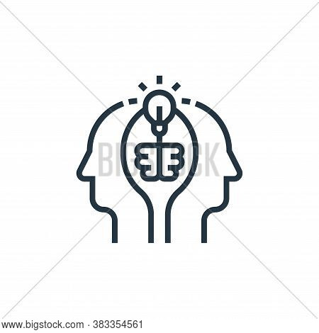 brainstorming icon isolated on white background from business model canvas collection. brainstorming