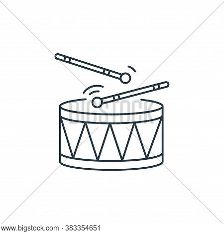 drums icon isolated on white background from kids collection. drums icon trendy and modern drums sym
