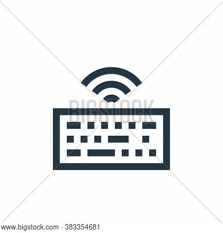 keyboard icon isolated on white background from wireless technology collection. keyboard icon trendy