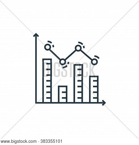 analytics icon isolated on white background from data analysis collection. analytics icon trendy and