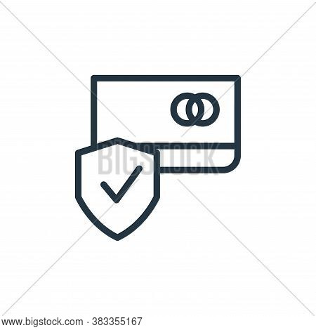 credit card visa icon isolated on white background from finance and business collection. credit card