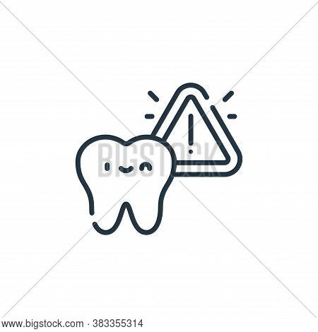 alert icon isolated on white background from dentist collection. alert icon trendy and modern alert