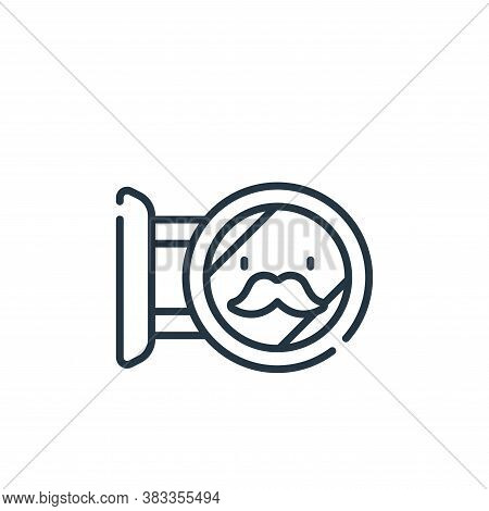 barber shop icon isolated on white background from barber shop collection. barber shop icon trendy a