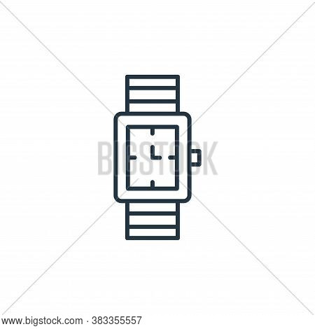 watch icon isolated on white background from fashion collection. watch icon trendy and modern watch
