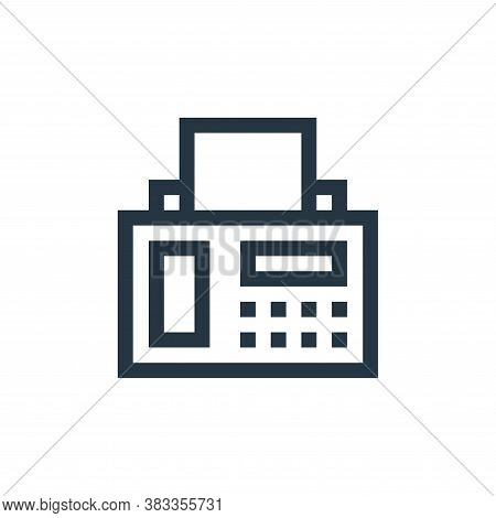 fax icon isolated on white background from wireless technology collection. fax icon trendy and moder