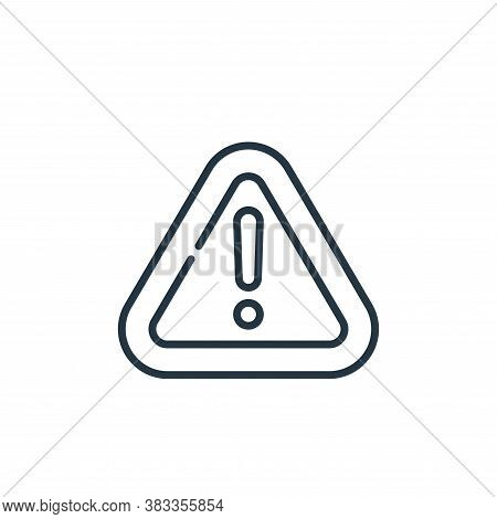 warning icon isolated on white background from car engine collection. warning icon trendy and modern
