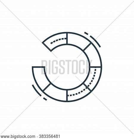 circular graph icon isolated on white background from data analysis collection. circular graph icon