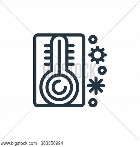 temperature icon isolated on white background from medical collection. temperature icon trendy and m