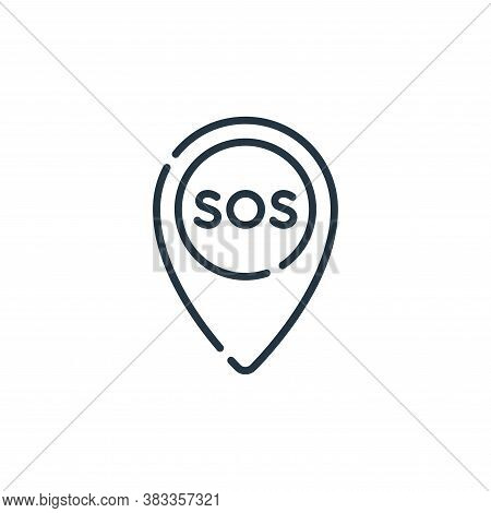 sos icon isolated on white background from location collection. sos icon trendy and modern sos symbo