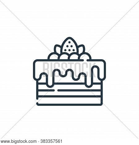 cake icon isolated on white background from sweets and candies collection. cake icon trendy and mode