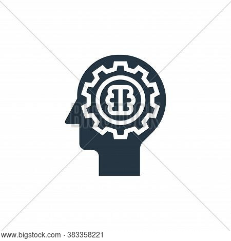 mindset icon isolated on white background from business model canvas collection. mindset icon trendy