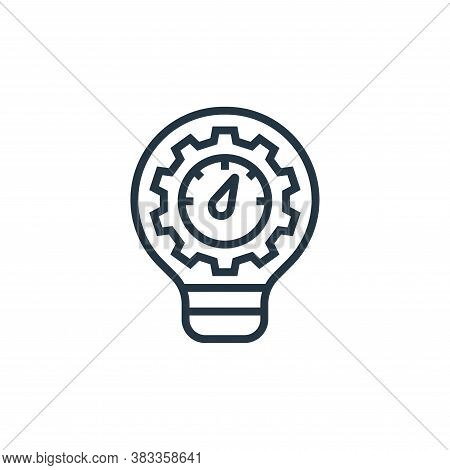process icon isolated on white background from business model canvas collection. process icon trendy