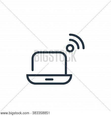 laptop icon isolated on white background from internet of things collection. laptop icon trendy and