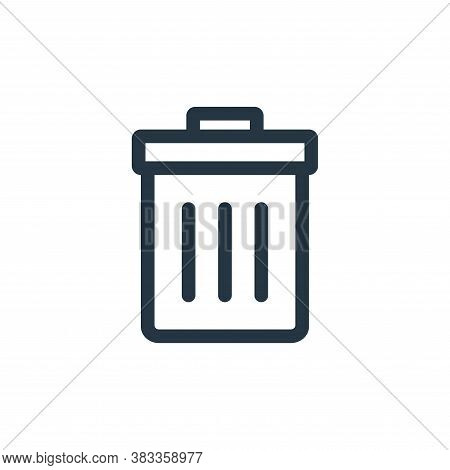 trash icon isolated on white background from ui collection. trash icon trendy and modern trash symbo