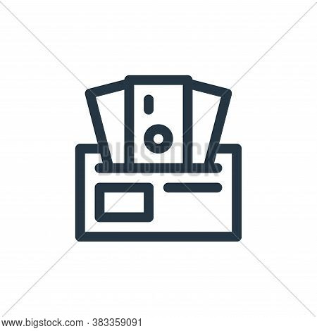 wallet icon isolated on white background from investment collection. wallet icon trendy and modern w