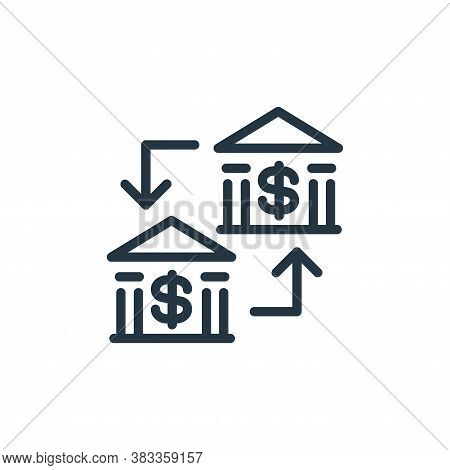 money transfer icon isolated on white background from finance and business collection. money transfe