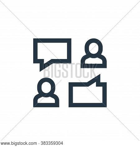 comments icon isolated on white background from customer reviews collection. comments icon trendy an