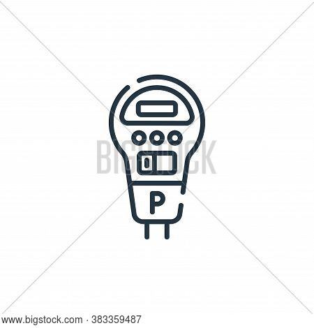 parking meter icon isolated on white background from public transportation collection. parking meter