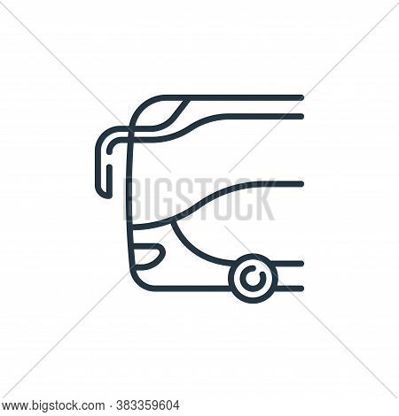 bus icon isolated on white background from public transportation collection. bus icon trendy and mod