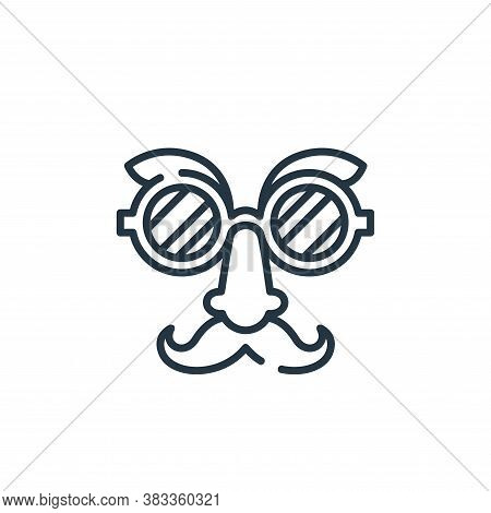 glasses icon isolated on white background from party and celebration collection. glasses icon trendy
