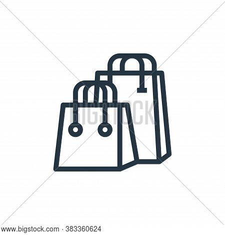 shopping bag icon isolated on white background from marketing seo business collection. shopping bag