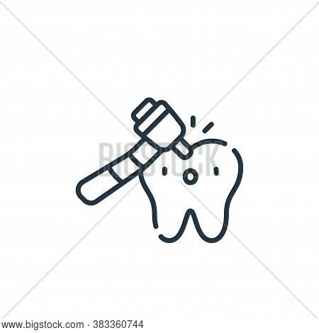 tooth drill icon isolated on white background from dentist collection. tooth drill icon trendy and m