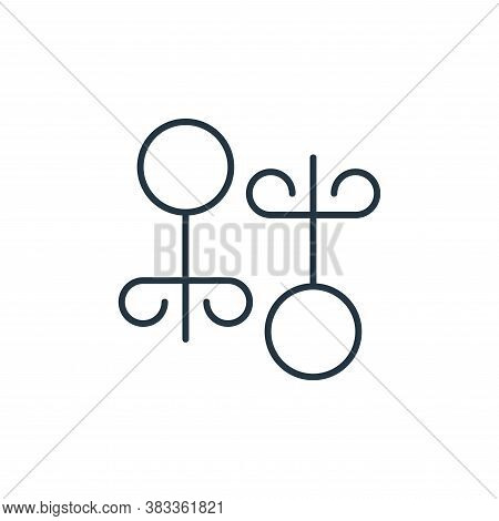 earrings icon isolated on white background from fashion collection. earrings icon trendy and modern