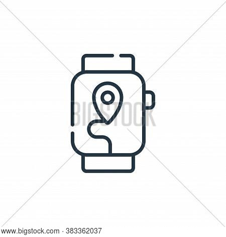 watch icon isolated on white background from location collection. watch icon trendy and modern watch