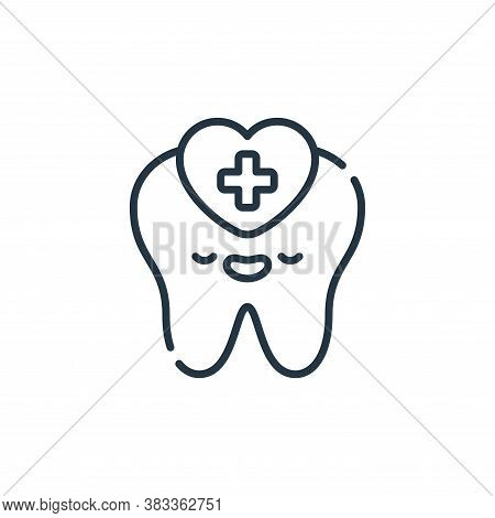 Dental care icon isolated on white background from dentist collection. Dental care icon trendy and m