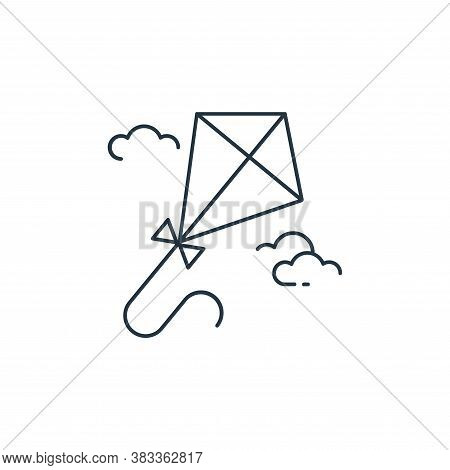 kite icon isolated on white background from kids collection. kite icon trendy and modern kite symbol