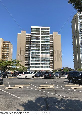 Ocean City, Md: English Towers Beachfront High-rise Condominium Building Located On 100th Street And