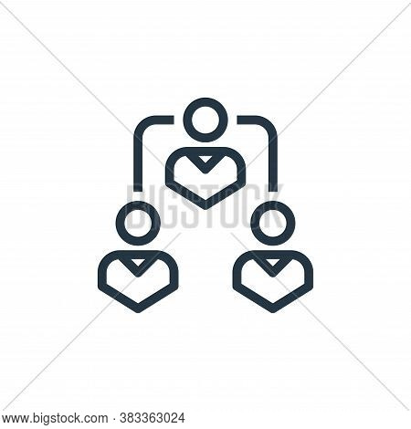 teamwork icon isolated on white background from marketing seo business collection. teamwork icon tre