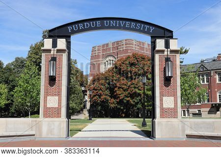 West Lafayette - Circa August 2020: Purdue Welcome Center At Purdue University. Purdue University Is