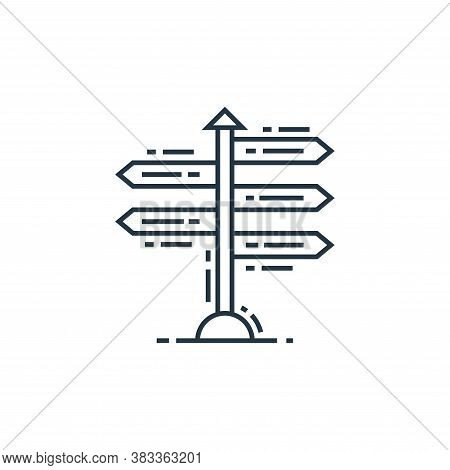 signpost icon isolated on white background from data analysis collection. signpost icon trendy and m