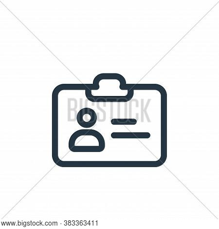 id card icon isolated on white background from business collection. id card icon trendy and modern i
