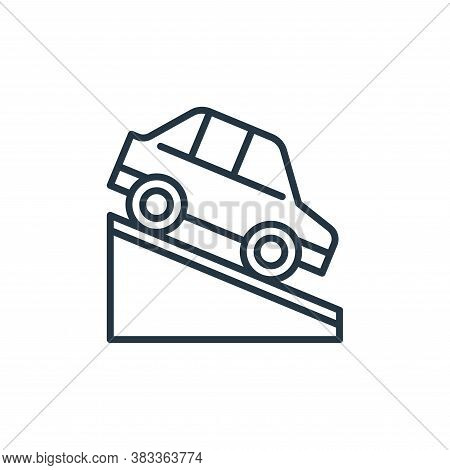 downhill icon isolated on white background from car engine collection. downhill icon trendy and mode