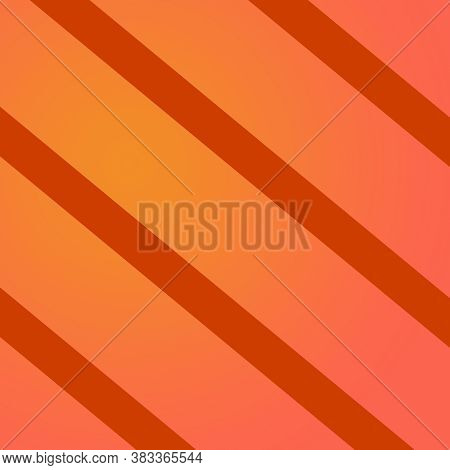 Orange Diagonal Stripes Pattern With Gradient Shades With Burnt Sienna Orange Striped Lines In This