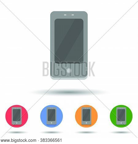 Old Touchscreen Smartphone Icon Vector Logo Isolated On Background