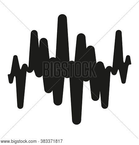 Black Music Wave Symbol. Pulse Music Player Logo. Jpeg Sound Wave Illustration. Equalizer Element On