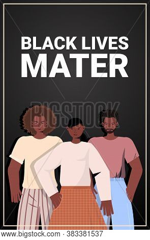 African American People Against Racial Discrimination Black Lives Matter Concept Social Problems Of