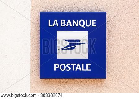 Villefranche, France - May 24, 2020: Banque Postale Logo On A Wall. La Banque Postale Is A French Ba