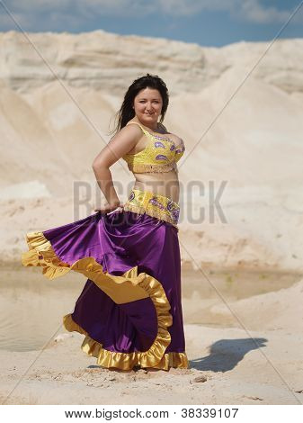 Dancer In Violaceous Skirt