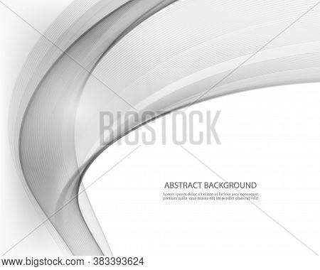 Elegant Wavy Background Gray Wave Flow Abstract Background